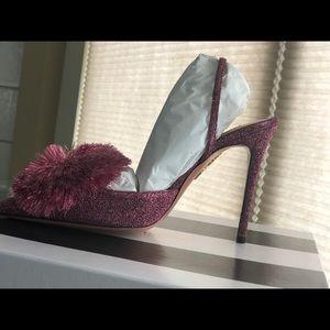 Aquazzura power puff sling - 105 Pink Brand New